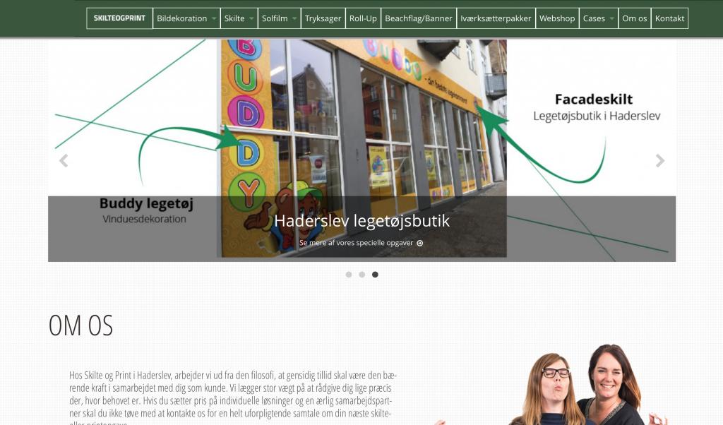 Hjemmeside skilteogprint