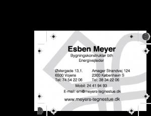 Visitkort-Meyers tegnestue